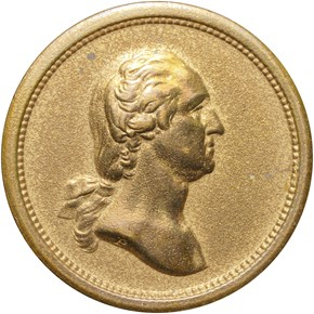 UNDATED BRONZE GEORGE WASHINGTON 19mm MS obverse