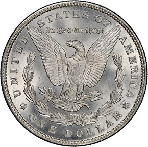 1893 $1 MS reverse