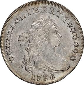 1798 LARGE EAGLE $1 MS obverse
