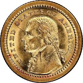 1903 JEFFERSON LOUISIANA PURCHASE G$1 MS obverse