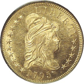 1795 9 LEAVES BD-3 $10 MS obverse