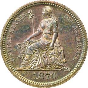 1870 J-817 H10C PF obverse