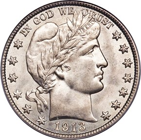 1913 S 50C MS obverse