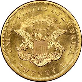 1864 $20 MS reverse