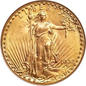 1932 $20 MS obverse