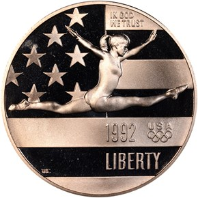 1992 S OLYMPICS 50C PF obverse