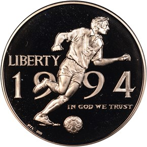 1994 P WORLD CUP 50C PF obverse