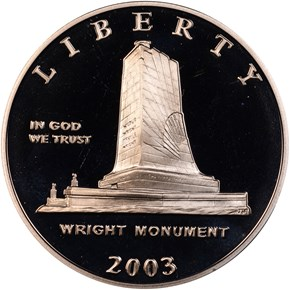 2003 P FIRST FLIGHT 50C PF obverse