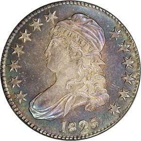 1825 50C PF obverse