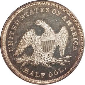 1839 DRAPERY 50C PF reverse