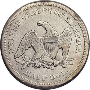 1839 SM LET CAPPED GR-1 50C MS reverse