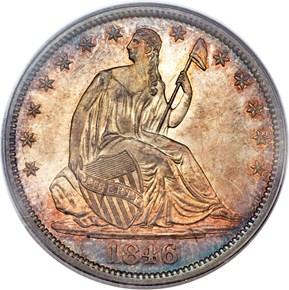 1846 O 50C MS obverse