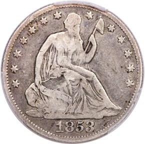 1853 O NO ARROWS 50C MS obverse