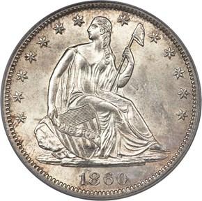 1860 S 50C MS obverse