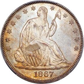 1867 50C MS obverse