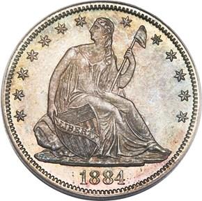 1884 50C MS obverse