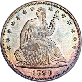 1890 50C MS obverse