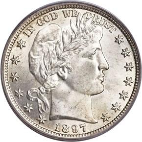 1897 50C MS obverse