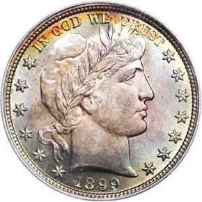 1899 50C MS obverse