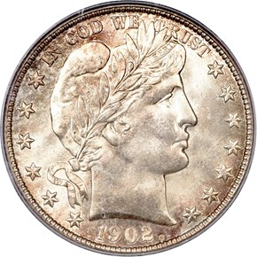 1902 S 50C MS obverse