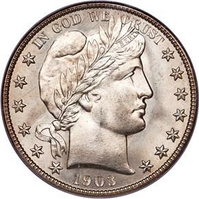 1903 S 50C MS obverse
