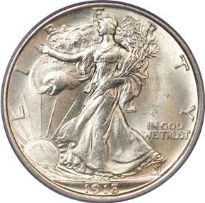 1918 D 50C MS obverse