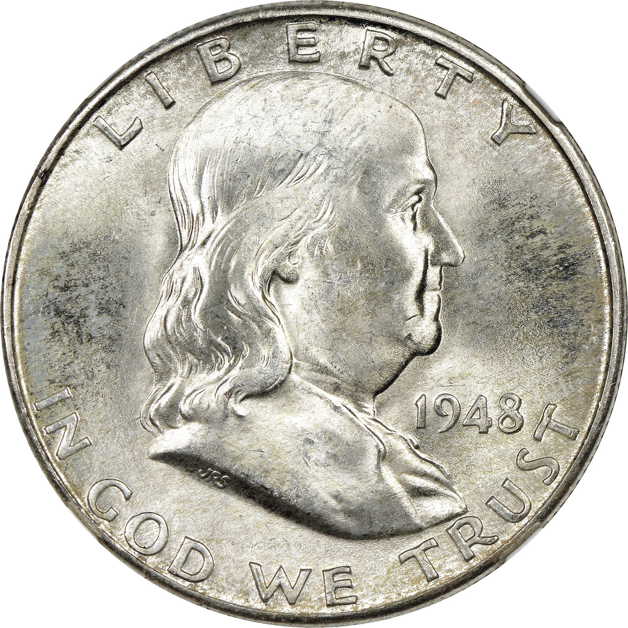 1948 D 50c Franklin Silver Half Dollar US Coin VG Very Good