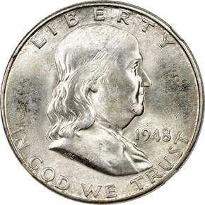 1948 D 50C MS obverse
