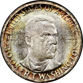 1946 BOOKER T. WASHINGTON 50C MS obverse