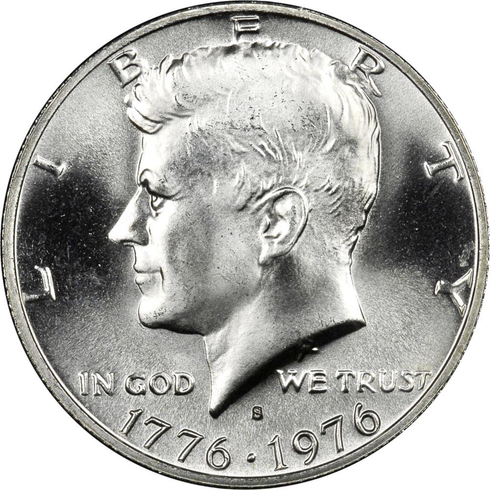 1776-1976 S Silver 50C MS Kennedy Half Dollars