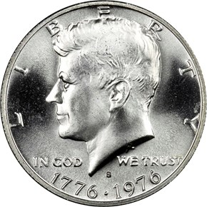 1776-1976 S SILVER 50C MS obverse