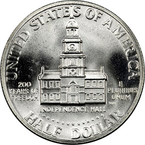 1776-1976 S SILVER 50C MS reverse
