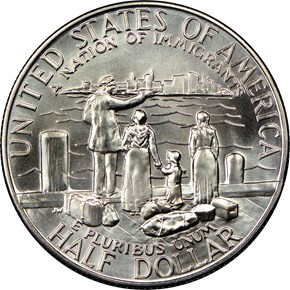 1986 D STATUE OF LIBERTY 50C MS reverse