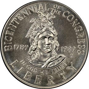 1989 D CONGRESS 50C MS obverse