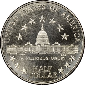 1989 D CONGRESS 50C MS reverse