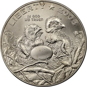 2008 S BALD EAGLE 50C MS obverse