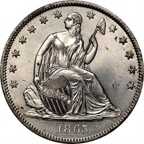 1865 S 50C MS obverse