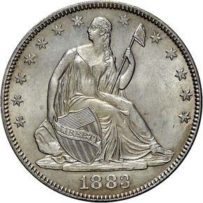 1883 50C MS obverse
