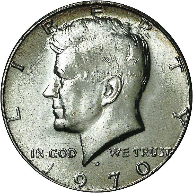1970 D 50C MS Kennedy Half Dollars