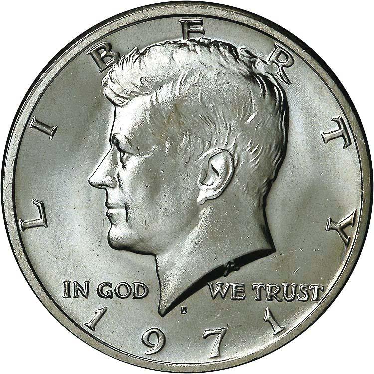 1971 Kennedy Half Dollar Value Chart Kennedy Half
