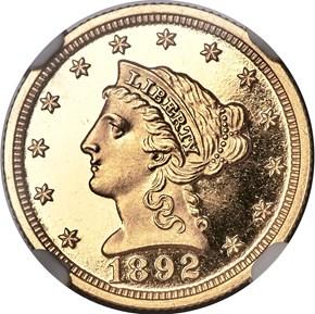 1892 $2.5 PF obverse