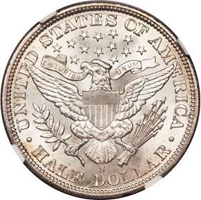 1896 S 50C MS reverse