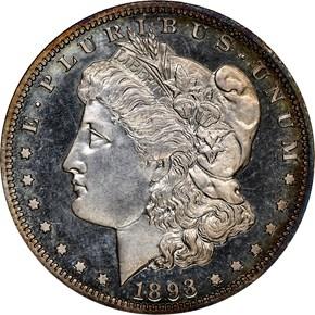 1893 $1 PF obverse