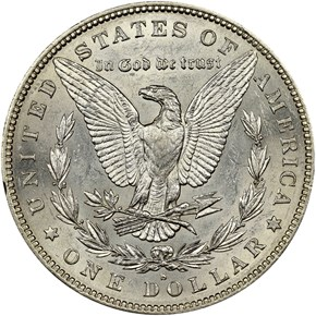 1884 S $1 MS reverse