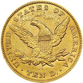 1874 CC $10 MS reverse