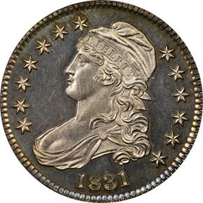 1831 50C PF obverse