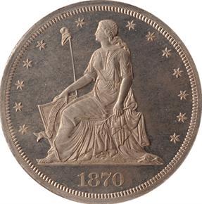 1870 J-1007 S$1 PF obverse