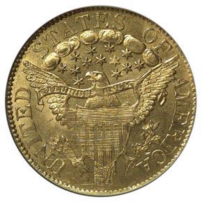 1807 DRAPED $5 MS reverse