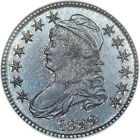 1822 50C PF obverse