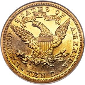 1905 $10 PF reverse